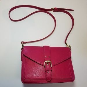 Pink Charming Charlie square crossbody purse